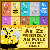Friendly Animals Alphabet Poster Chart – Tree
