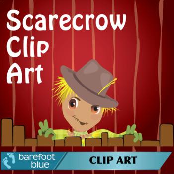 Friendly Autumn Scarecrow, Fall Clip Art