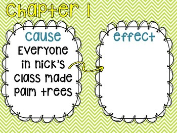 Frindle Cause and Effect Task cards and Writing prompt