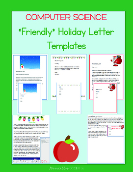 Friendly Christmas Letter Templates - Microsoft Word - FRE