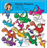 Friendly Dragons Clipart