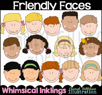 Friendly Faces Clipart Collection