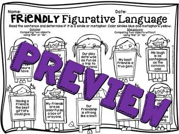 Friendly Figurative Language (Literary Device Unit)