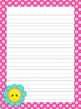Friendly Flowers Mothers Day Writing Paper - 3 Styles - ( 7 1/2x10 )