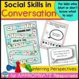 Conversation Skills Activities and Games for Responding Ap
