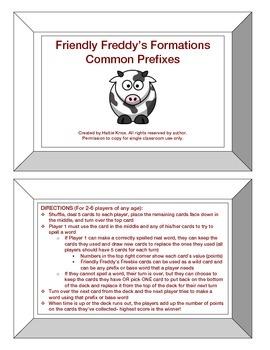 Friendly Freddy's Common Prefixes Game