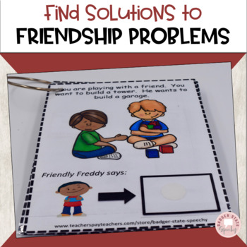 Friendly Freddy's Friendship Fix-its!  An Interactive Social Skills Book!