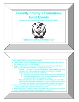 Friendly Freddy's Initial Blends Game
