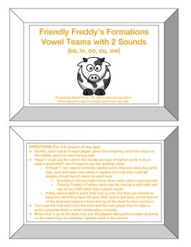 Friendly Freddy's Vowel Teams with 2 Sounds Game