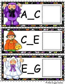 Friendly Frights Missing Letters Envelope Center