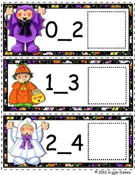 Friendly Frights Missing Number Envelope Center
