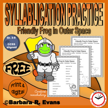 SYLLABLES LITERACY CENTER Outer Space Theme Worksheets Phonics