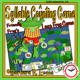 SYLLABLES PRACTICE Frog Theme Syllables Counting Game Science Vocabulary