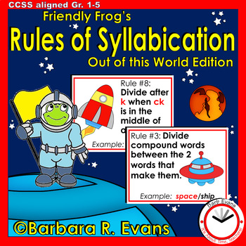 SYLLABLE RULES Out of This World Theme Posters Syllable Activities Phonics