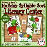 SYLLABLE: Syllable Sort, Syllable Activities, Literacy Center, Phonics