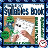 SYLLABLE RULES Friendly Frog Theme Syllable Activities Phonics Worksheets