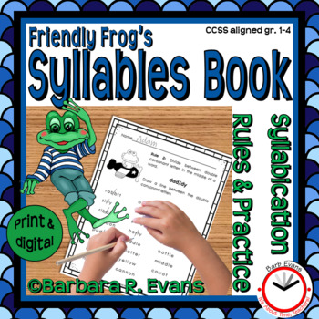 Syllable Rules Friendly Frog Theme Syllable Activities Phonics
