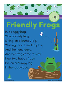 Friendly Frogs - og Word Family Poem of the Week