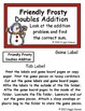 Friendly Frosty Doubles Addition File Folder Game