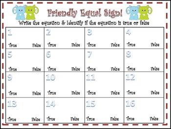 Friendly Fun (Balancing Equations)