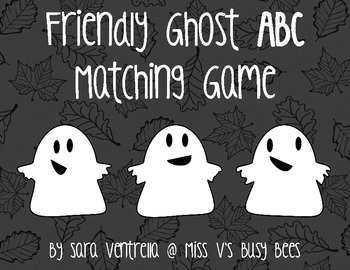 Friendly Ghost ABC Matching Game - FREE