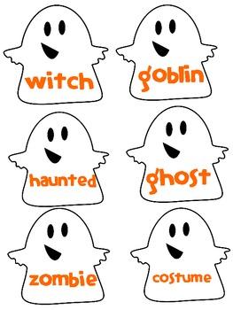 Friendly Ghosts- ABC order Freebie