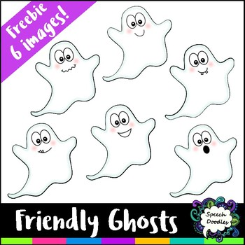 Friendly Ghosts Clipart Freebie - 6 images! - Free Halloween Clipart