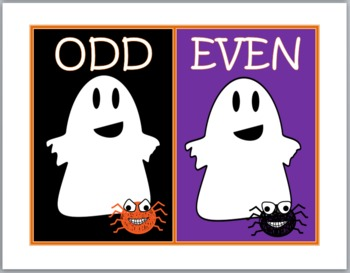 Odd and Even Numbers Sort - Halloween Math