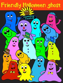 Friendly Halloween Ghost clipart
