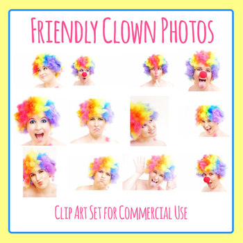 Friendly Happy Clowns Photos Clip Art Commercial Use
