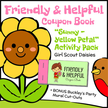 Friendly & Helpful Coupon Book - Girl Scout Daisies - Sunny Petal (Steps 2 & 3)