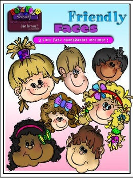 Friendly Kid Faces Clipart (Embellish Yourself Artworks)