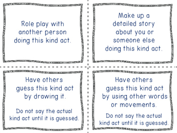 Brain Breaks: Dice and Role Play KINDNESS Games