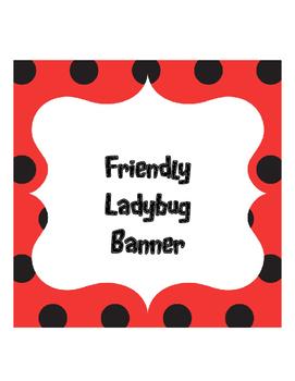 Friendly Ladybug Banner
