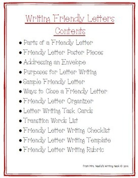 Letter Writing - Graphic Organizers, Templates and Task Cards
