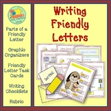 Friendly Letter Writing Graphic Organizers, Prompts and Rubric
