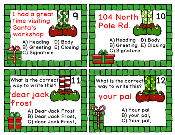 Christmas Friendly Letter - Game, Worksheets, Craftivity, Anchor Chart