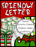 Christmas Friendly Letter - Game, Worksheets, Craftivity,