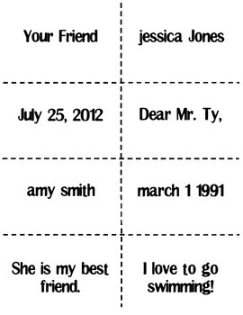 Friendly Letter Activity