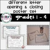 Friendly Letter Alternative Openings & Closings