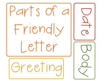 Friendly Letter Anchor Chart Labels