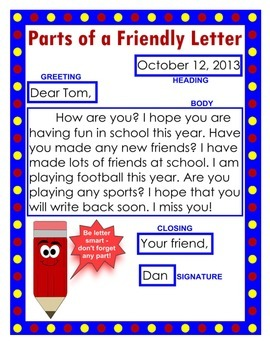 Format For A Friendly Letter from ecdn.teacherspayteachers.com