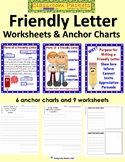Friendly Letter Anchor Chart and Worksheet Packet - Distan