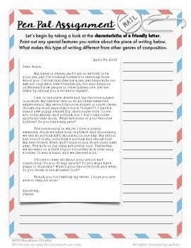 Friendly Letter Format & Etiquette {Dear Pen Pal}