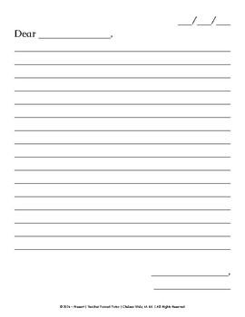 Friendly Letter Format Paper