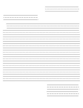 Friendly Letter Framework for Elementary in Portrait Orientation