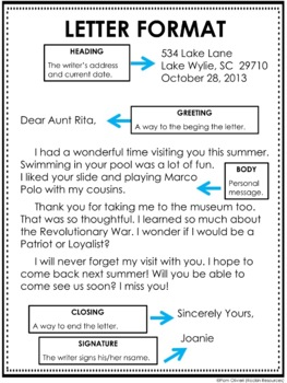 parts of a friendly letter friendly letter freebie by rockin resources teachers pay 23902