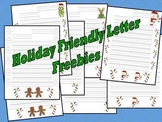 Friendly Letter Freebie - Christmas Holiday Designs
