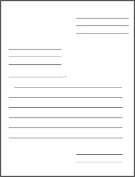 Friendly Letter Graphic Organizer & Templates *Editable