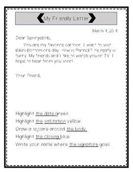 Friendly Letter Highlight